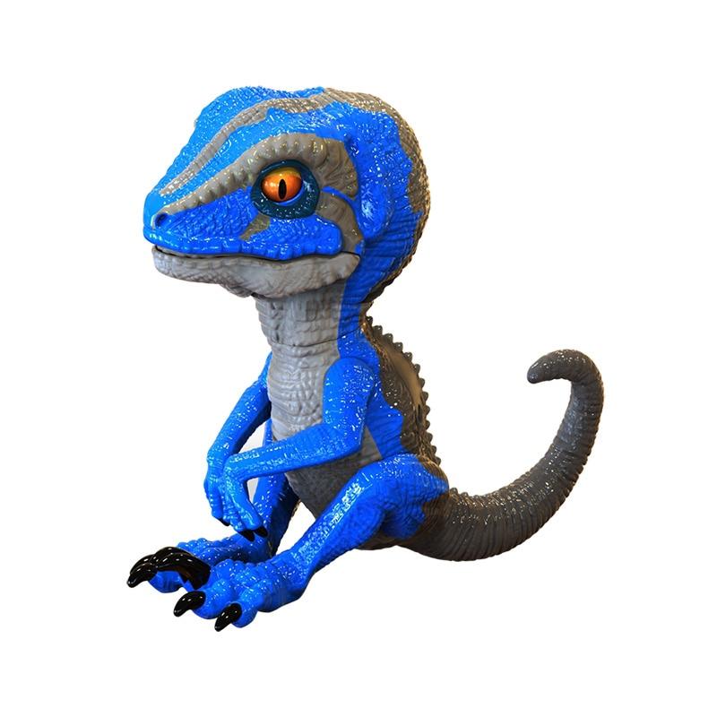 New Interactive Dinosaur Pet Finger Electronic Funny Kids Toy Tamed Fingertip Blue Raptors Toys For Children Fingerings Nk01