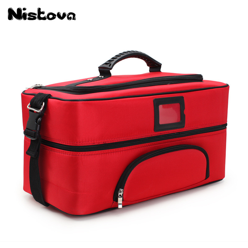 New Professional Oxford Cloth Large Capacity Cosmetic Case Portable Multi-layer Solid Color Storage Bag Portable Multi-tool Kit hot selling oxford cloth hard board tool storage bag portable zipper sleeve tool storage bag electrical tool kit