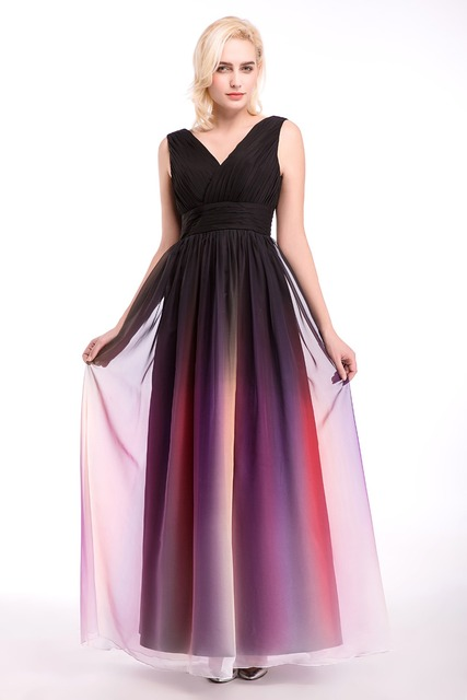 In Stock 100% Real Pic Long Multi Color Bridesmaid Dresses Elegant For  Wedding Prom Party 86cee2af99b2