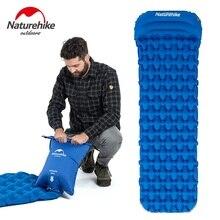 Naturehike спальный коврик с подушкой воздушный мешок Ручной пресс надувной кемпинг матрас Сверхлегкий Открытый Туризм палатки коврики