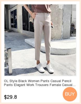 19 Autumn New Women Elastic Woolen Pant Female Plus Size Casual Trousers Black/Gray Harem Pants Winter Wool Ankle-Length Pants 3