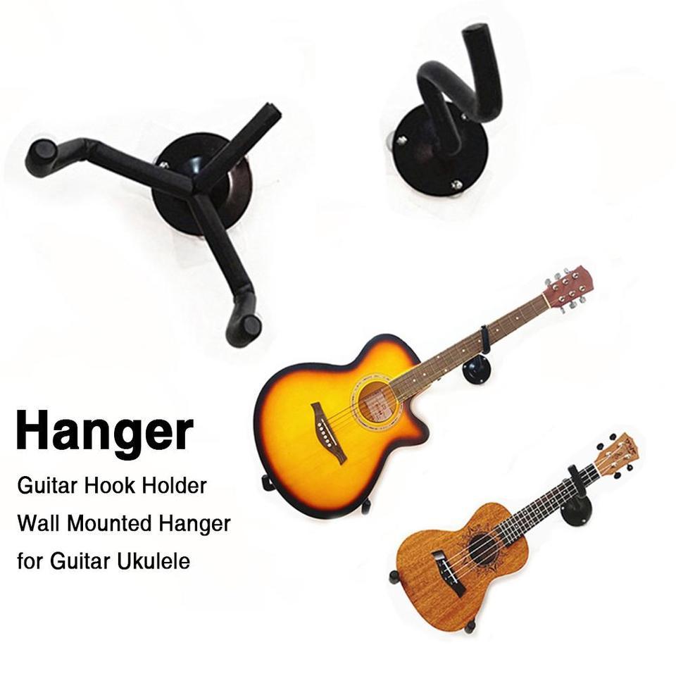 paquete de 2 perchas de montaje en pared para guitarra Soporte de ukelele con tornillos Perchas de pared para guitarra soporte de guitarra para guitarras Bajo Mandolina Banjo Viol/ín ukelele
