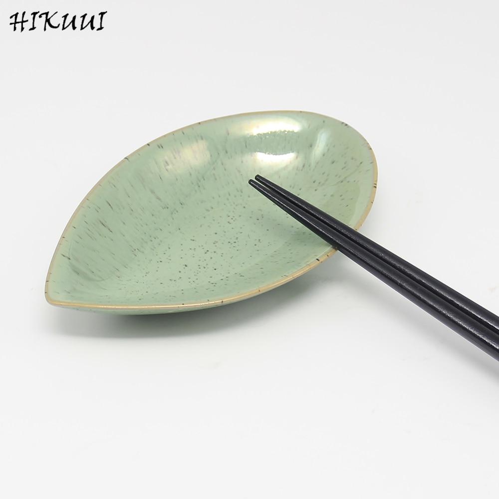 Creative Handcraft Leaves Ceramic Plates Tray Japanese Sushi Dishes ...