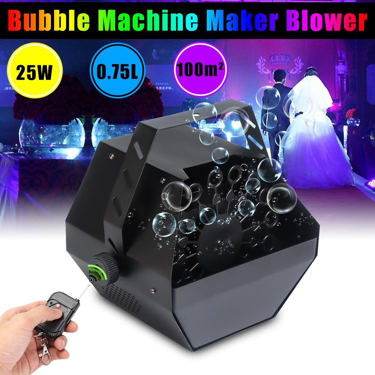 220-240 В Автоматическая мыльных пузырей Maker вентилятор Электрический пузырь, кофейное оборудование мини Беспроводной удаленного Управление ...