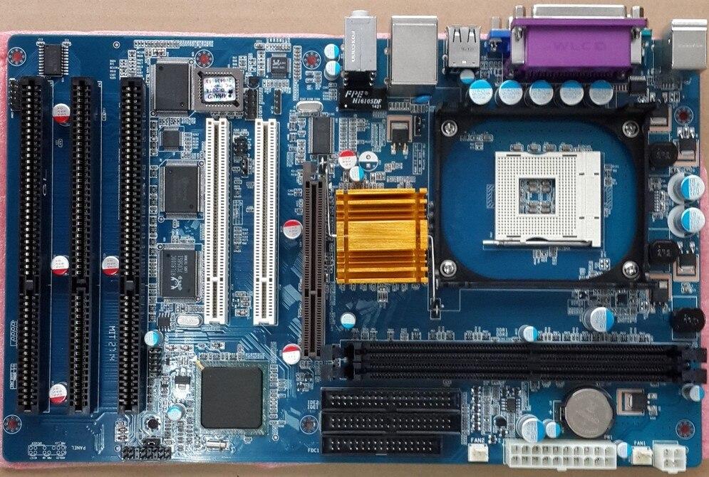 Бесплатная доставка Новый оригинальный 845GV 845GL ISA материнская плата 478 DDR материнская плата ISA 2PCI 1 AGP 4/8X, 3 * ISA промышленный налог Материнские п...