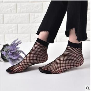 2017 Punk Women Girls Sexy Black Hollow Out Breathable Mesh Fishnet Socks Female Gothic Stretchable Short Hosiery Ankle Socks black hollow out stretchable leggings