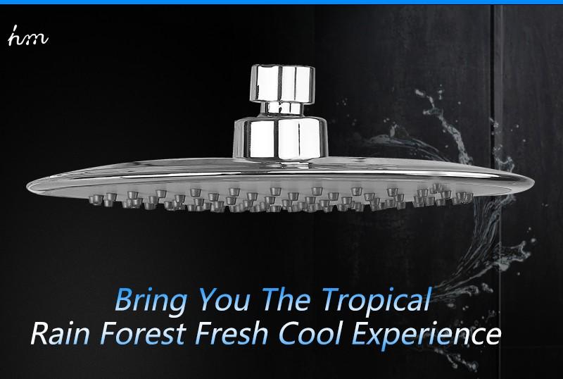 Rain Shower Head,9 Inch UltraTthin Regaderas Para Ducha,Banheiro Head Shower,Chuveiros Prysznic Duschkopf,Bathroom Showerhead (3)