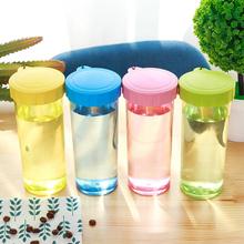 430 ml cukierki kolor przenośne czajnik wydajne plastikowe szczelny picia butelka wody na zewnątrz sport i picia naczynia tanie tanio Butelki wody Bezpośredniego picia Z tworzywa sztucznego Zapas rzeczy Dorosłych Z pokrywką Plastic Water Bottle Brak Ce ue