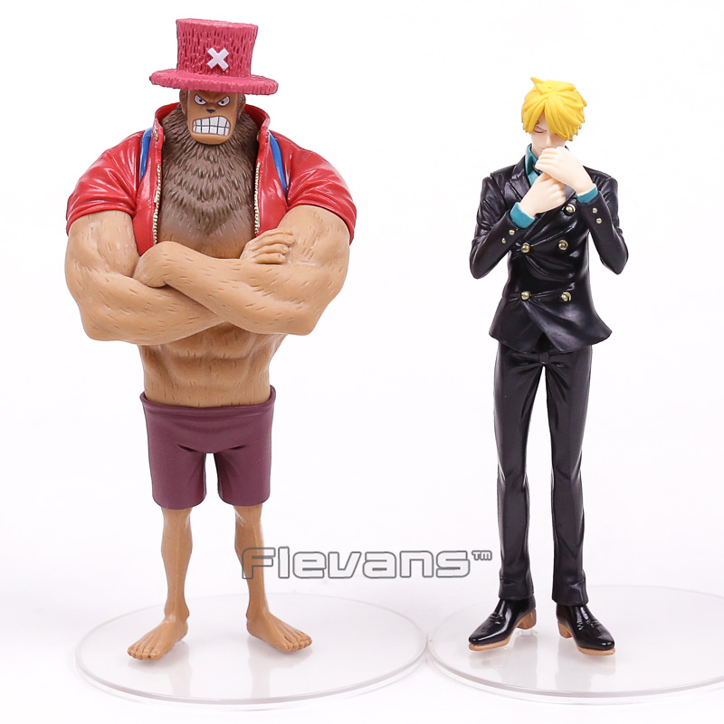 Anime One Piece Dramatic Showcase 3rd season vol.3 Chopper and Sanji PVC Figures Collectible Model Toys 2pcs/set namibia vol 3 episode 3
