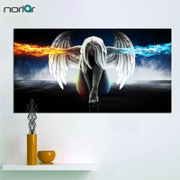 HD Printed Angeles Girls Anime Demons Painting Canvas Print Room Decor Print Poster Picture Canvas NO