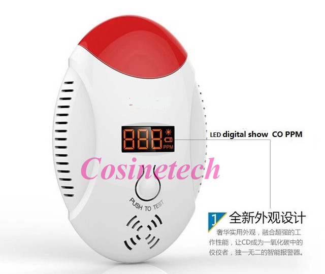 Digital wireless smart Carbon Monoxide Detector alarm CO detector,High Sensitive poisonous sensor with clear prompt voice