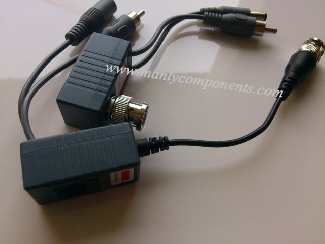 32pcs x CCTV RJ45 Video Balun, with Audio, Video and Power over CAT5/5E/6 Cable Hot Sale 16Pairs