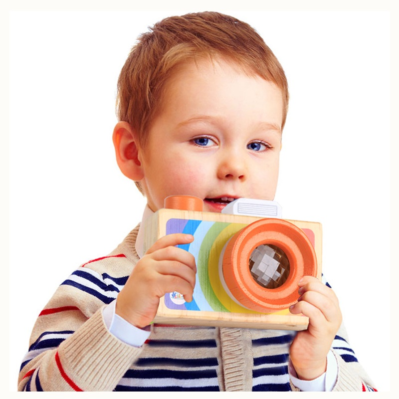 Mini Cute Wood Camera Toys Camera For Kids Safe Natural Toy For Baby Birthday Gift Room Decor Educational Toy Kids Birthday Gift
