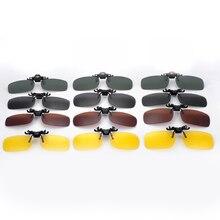 Men Women Retro Flip Up Polarized Sunglasses Clip On Myopia Glasses Day Night Vision Goggles Sun Uv400