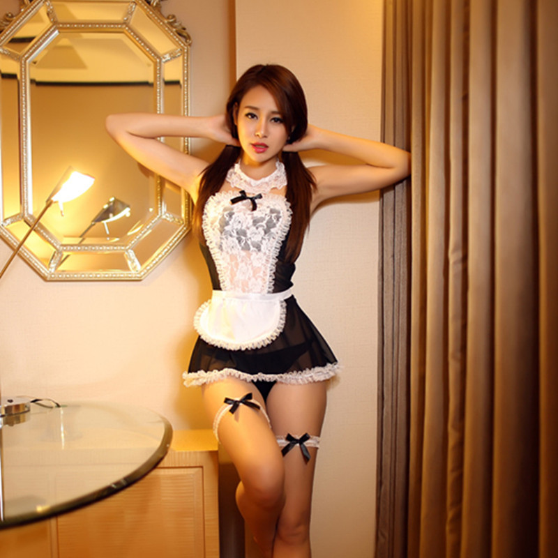 Buy 2016 Sexy lingerie sexy underwear lovely Female Maid classical Lace sexy miniskirt lolita maid outfit sexy costume sex products