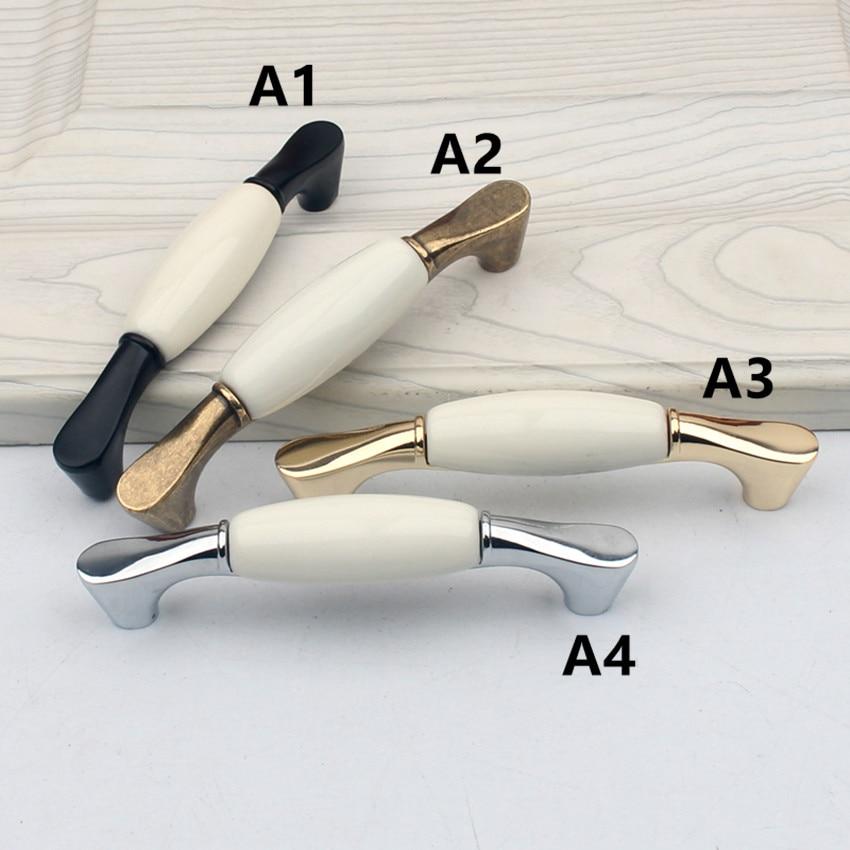 96 мм белое керамическое устройство для правки ручки Бронзовый Серебристый goldern кухонный шкаф ручки для ящиков Ручки Современные Ретро ручки