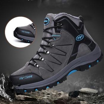 4965e844c6 Hombres zapatos de senderismo zapatos de cuero impermeables zapatos de  escalada y pesca nuevos zapatos populares
