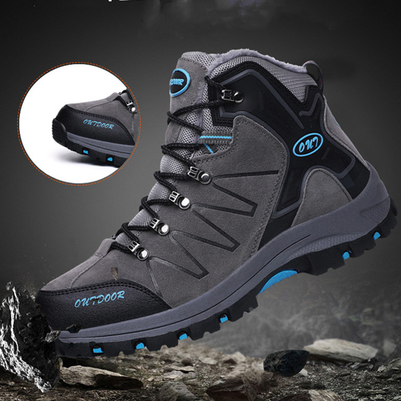 Men Hiking Shoes Waterproof Leather Shoes Climbing & Fishing Shoes New Popular Outdoor Shoes Men High Top Winter Boots