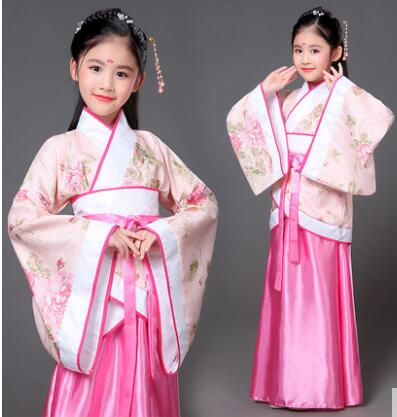 Ancient Chinese Costume Kids Child Seven Fairy Hanfu Dress Clothing Folk Dance Performance Chinese Traditional Dress For Girls