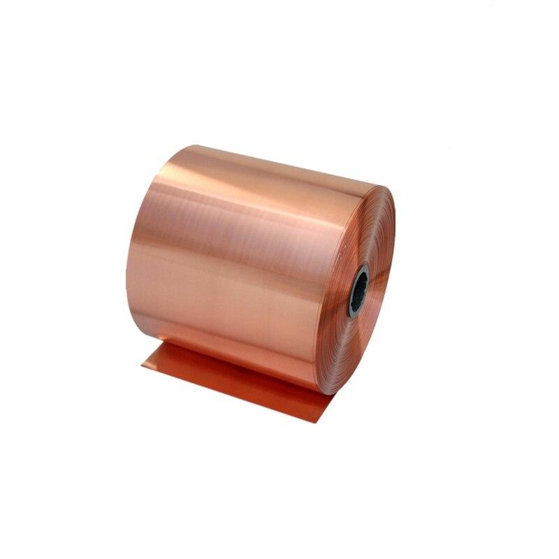 1Meter Copper Strip Thickness 0.01/0.02/0.03/0.05/0.08/0.1/0.2/0.3/0.5*W100MM Red Copper Sheet Copper Foil Copper Plate T2