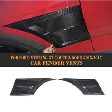 Carbon Fiber Car Fender Vents Trim for Ford Mustang Coupe 2 Door 2015 2016 2017 Side Trunk Trim Stickers Car Styling 2PCs