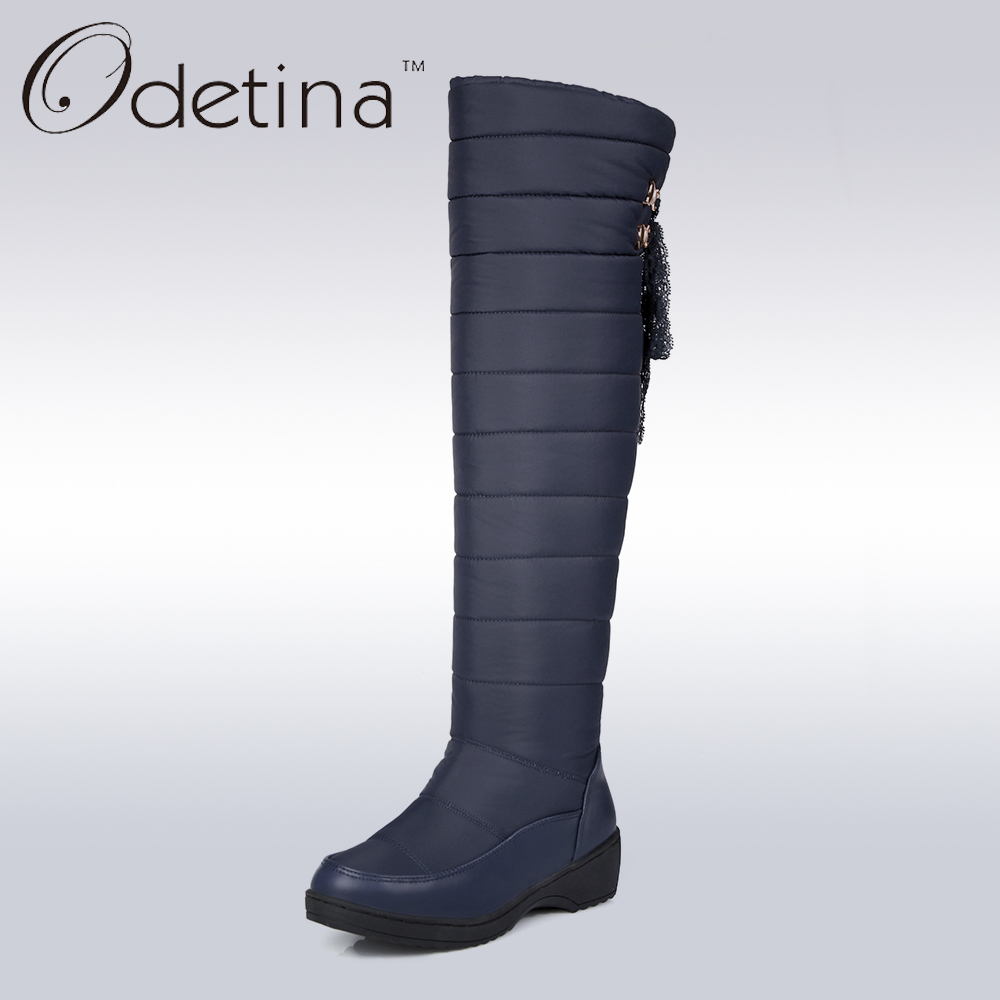 Odetina Snow Boots Over The Knee Boots Winter Shoes Women