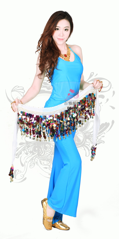 NEW Belly Dance Costume Sequins Split Long Skirt Tight Hip Style Skirt 9 colors