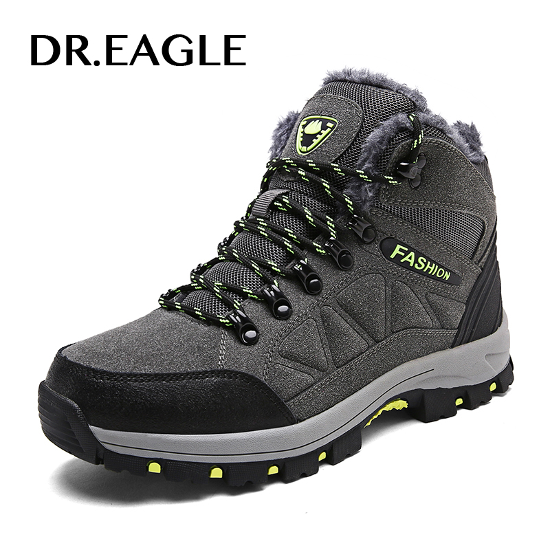DR.EAGLE Outdoor hiking shoes men waterproof sport shoes winter man mountain boots tactical fishing climbing trekking sneakers