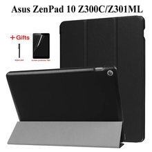Тонкий флип-чехол из искусственной кожи для Asus ZenPad 10 Z300 Z300C Z300CL Z300CG Z300M Z301 Z301ML 10,1 дюймовый чехол для планшета + флип + ручка