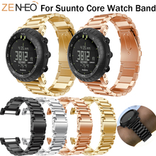 For Suunto Core smart Watch Band Stainless steel Strap Replacement For Suunto Core watches straps Wristband Bracelet Watchbands for suunto core camouflage strap for suunto core frontier classic smart sports silicone replacement wristband strap accessory