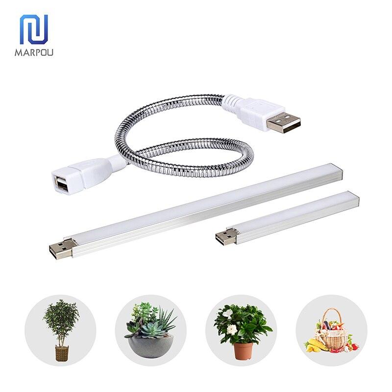LED USB Full Spectrum Grow Light 3W14LEDs 5W27LEDs Flexible USB Lamp DC5V Phytoplankton Lamp Infrared Ray For Plant Flower Grow