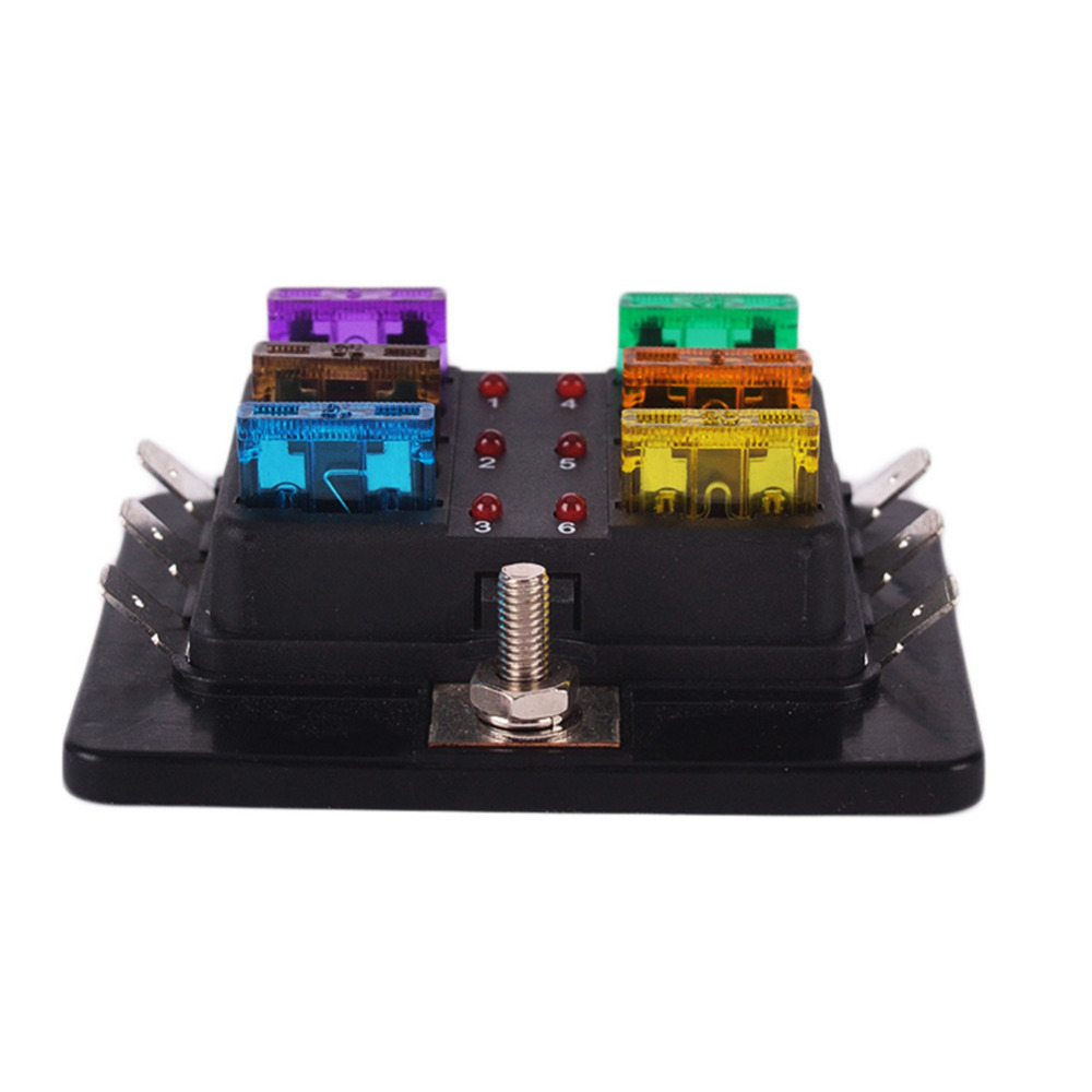 new 6 way circuit car atc ato middle size blade fuse box block new 6 way circuit car atc ato middle size blade fuse box block holder led indicator 32v terminals in fuses from automobiles motorcycles on