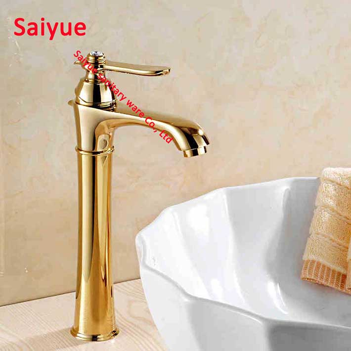 Gold And Chrome Bathroom Faucets.Us 64 5 New Various Crystal Gold Chrome Rose Gold Faucet Chrome Bathroom Faucet Rose Gold Finish Basin Tap Tall High Bath Sink Mixer In Basin