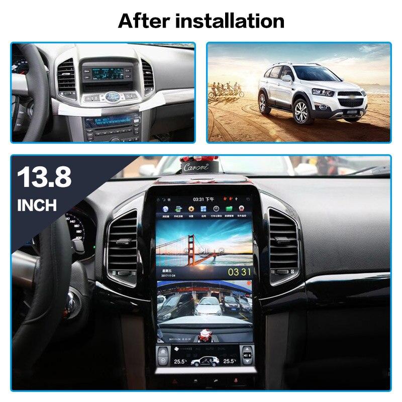 Android Tesla estilo 13,8 ''Car navegación GPS reproductor de DVD para el Chevrolet Captiva 2013-2017 Auto multimedia estéreo reproductor de radio navi