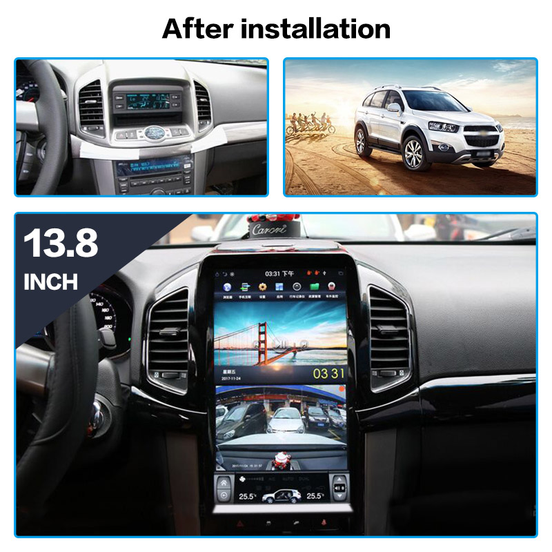Tesla estilo Android 13.8 ''Car GPS Navigation DVD Player Para Chevrolet Captiva 2013-2017 stereo Auto rádio multimídia player navi