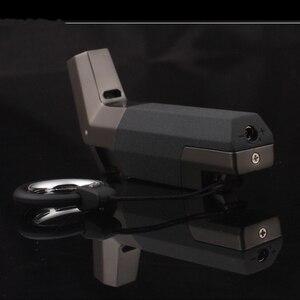 Image 5 - Tặng Hộp Thép Không Gỉ Butan Phản Lực Bật Lửa Hộp Quẹt Turbo Bật Lửa Lửa Chống Gió Xịt Kim Loại Ống Cigar Lighter 1300 C không Khí