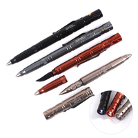 4 In 1 Multifunction Bullet Shaped Pen Knife Survival EDC LED Light Life Saving Hammer Ballpoint