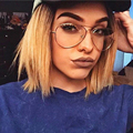 TFJ Moda de Aleación De Mujeres Marcos de los Vidrios Hombres de la Marca Escudo de Oro de Metal Grandes Gafas Mujeres Óptico Marco gafas gafas de grau
