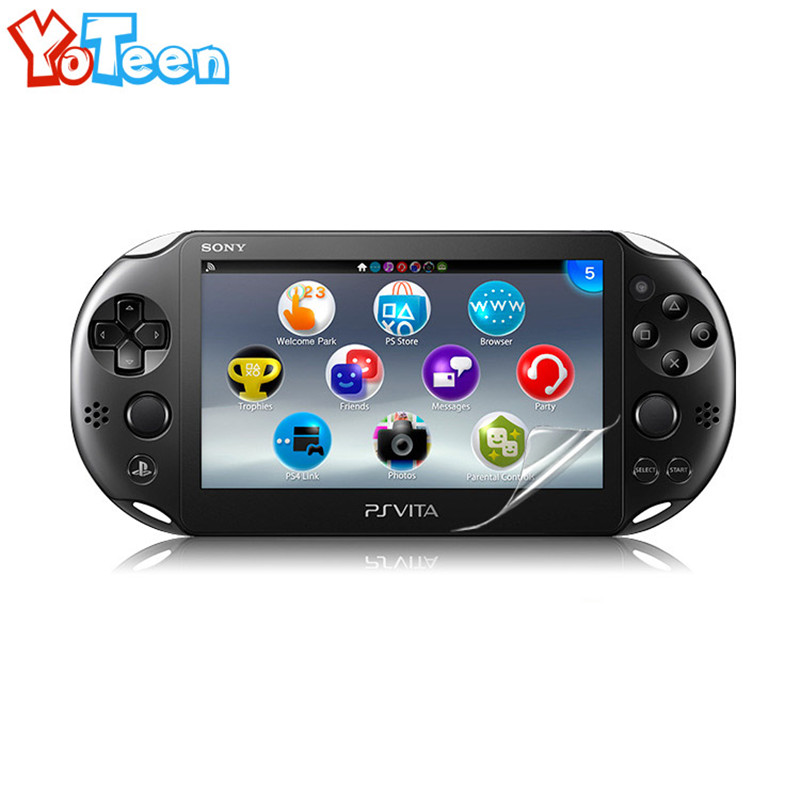 Clear Front + Back Screen Protector Film for Sony psv2000 Psvita PS Vita PSV 2000 LCD Screen Protector HD Clear Protective Film