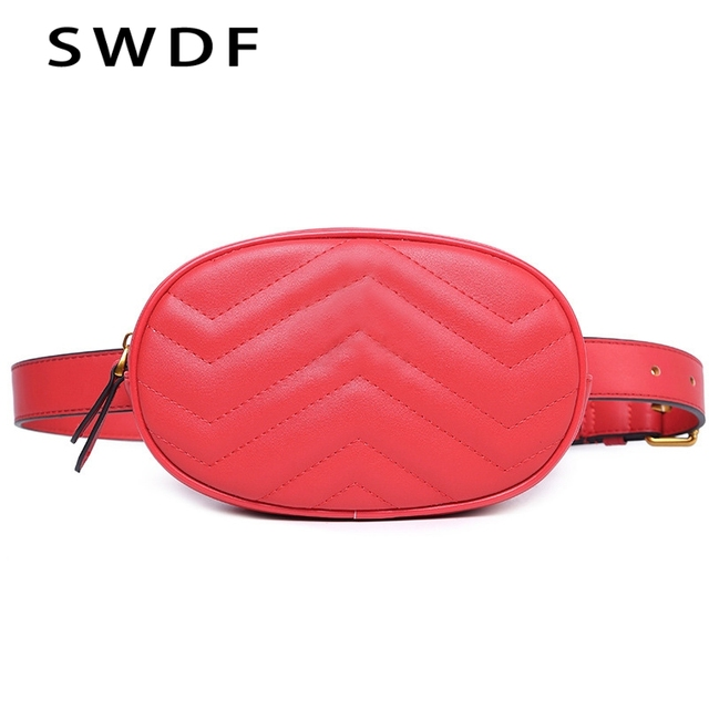 SWDF 2018 New Arrival Fashion Waist Belt Bag Fanny Crossbody Chest Bags Luxury Handbags Women Bags Designer Small Waist Pack Bag