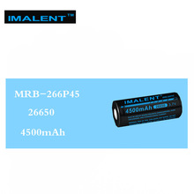 1pc best price  IMALENT 26650 4500mAh MRB-266P45 3.7V rechargeable Li-Ion battery high performance for LED flashlights