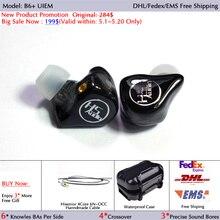 B6 + 6 12BAs Hisenior Universal Fit Balanced Armature UIEM de Monitor En Oído Con Cancelación de Ruido de Auriculares Personalizados Envío Libre de DHL