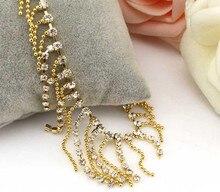 Women Gold Tassel Anklet Bracelet Barefoot Sandal Beach Foot Jewelry Women Birthday Gift Newest Style