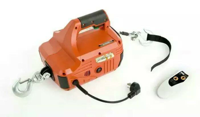 220V 450KG 4.6M Household Portable Electric Winch With Wireless Remote Control