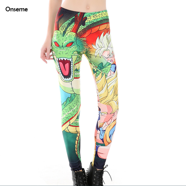 Dragon Ball Women Fitness Compression Leggings Pencil Pants