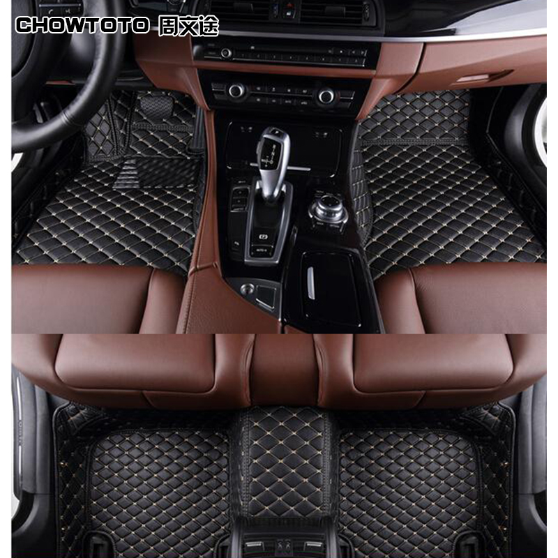 CHOWTOTO AA Custom Special Floor Mats For Audi A6L Wear Resisting Waterproof Carpets Car Styling Carmat