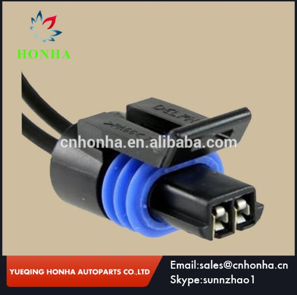 Female Electric Connector Black Waterproof 2 Pins