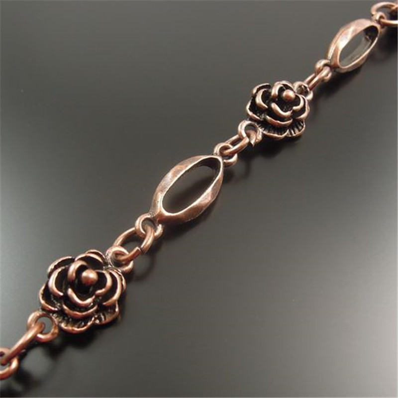 1Meter Copper Chain Flower Style For Handbag Women Male Jewelry Antiquqe Style Copper  Tone  Jewelry Necklace Chain 10*10MM