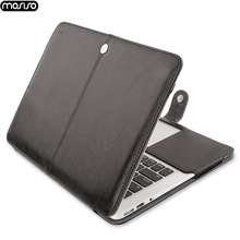 MOSISO Laptop Sleeve for MacBook Air 11 13 inch Pro Retina 12 15 PU Leather Case Inch Bag