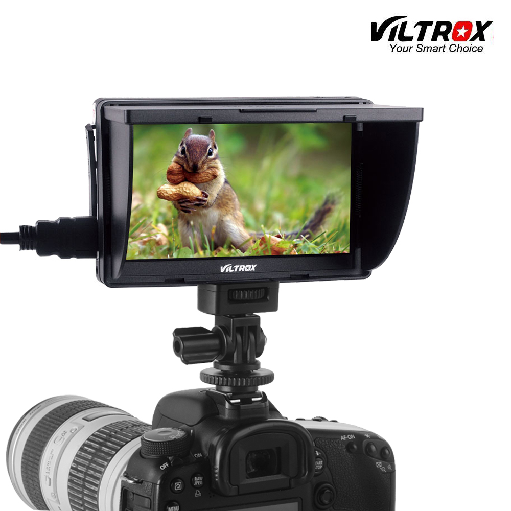 Viltrox DC-50 Portable 5'' HD Clip-on LCD HDMI AV Camera Video Monitor for Canon Nikon Pentax Sony A7 A7SII A6500 A6300 DSLR